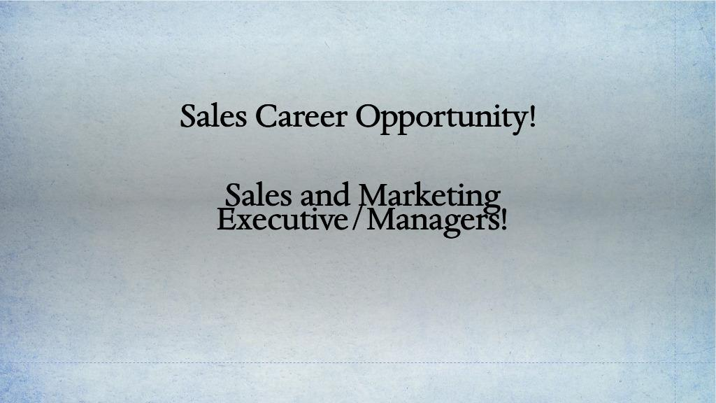 Best Sales and Marketing Career