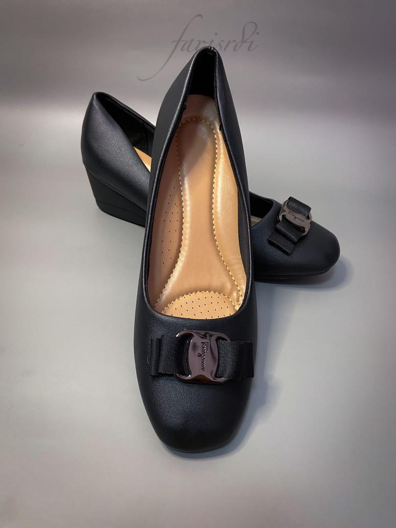 Black Ferragamo with soft \u0026 comfortable