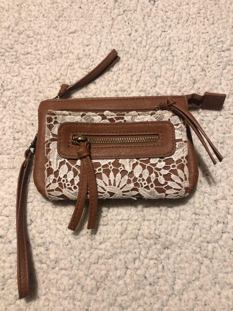"Bohemian ""leather"" purse/clutch"