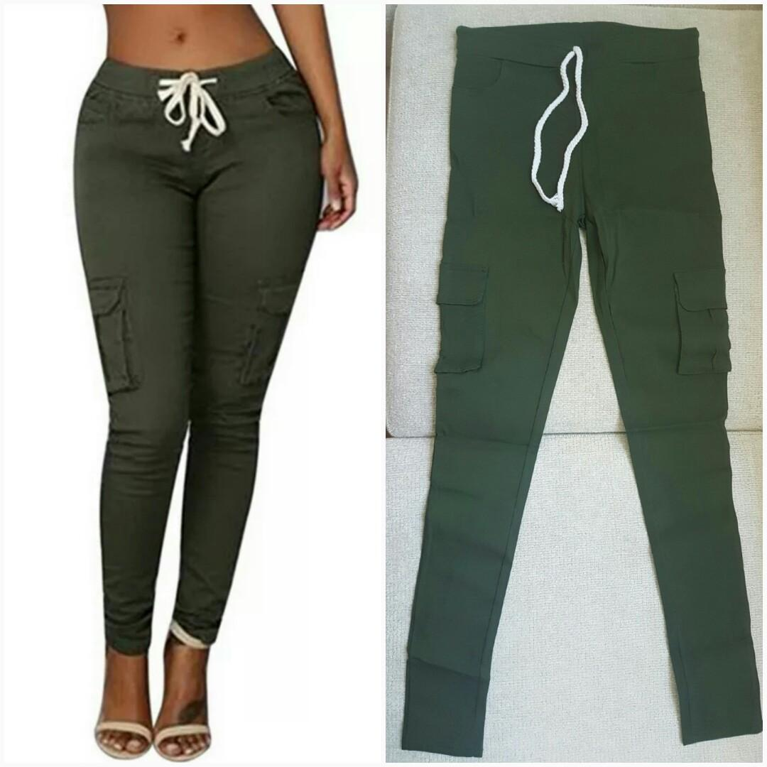 Brand New Army Green Cargo Pants