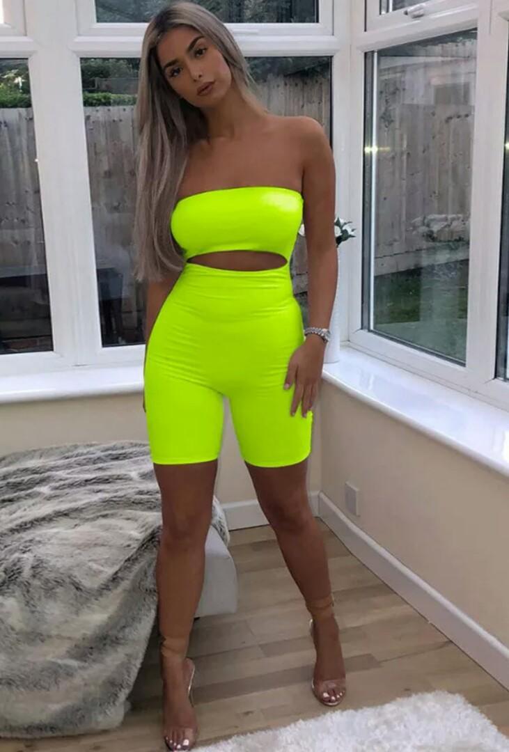 Brand New Neon Green Romper