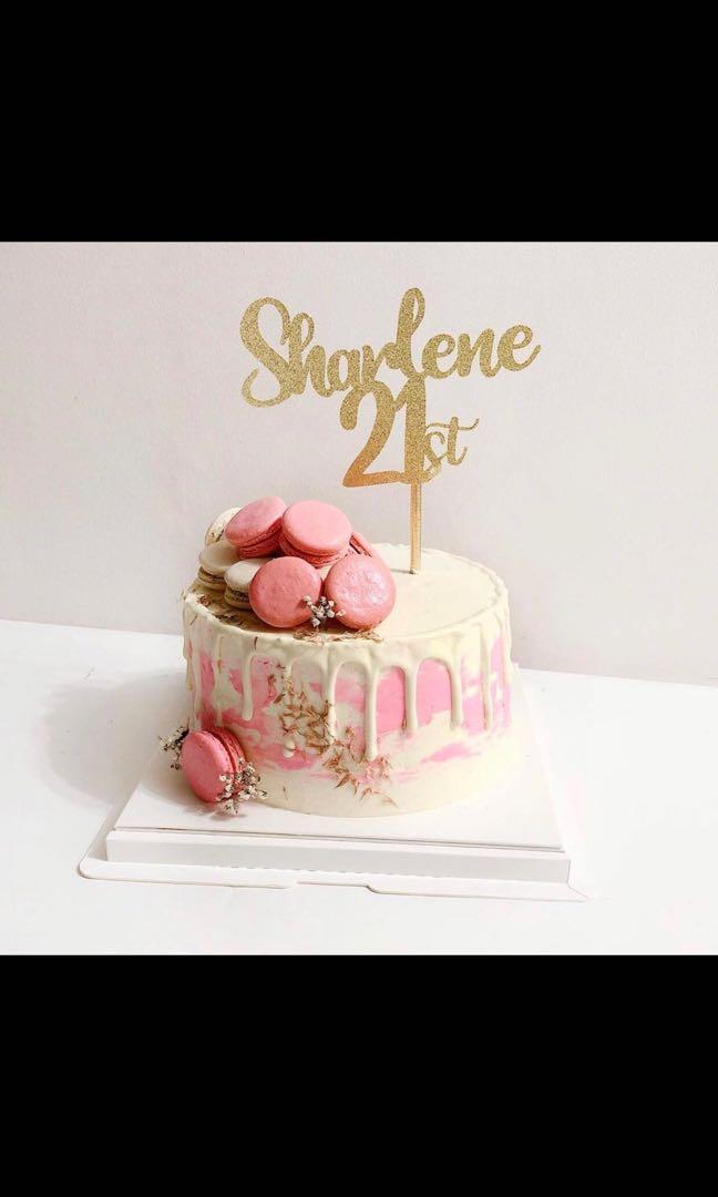 Customised 21st Birthday Cake Toppers Design Craft Handmade Craft On Carousell