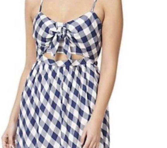 Dex, Blue Plaid Dress with Tie (Brand New w/original package)