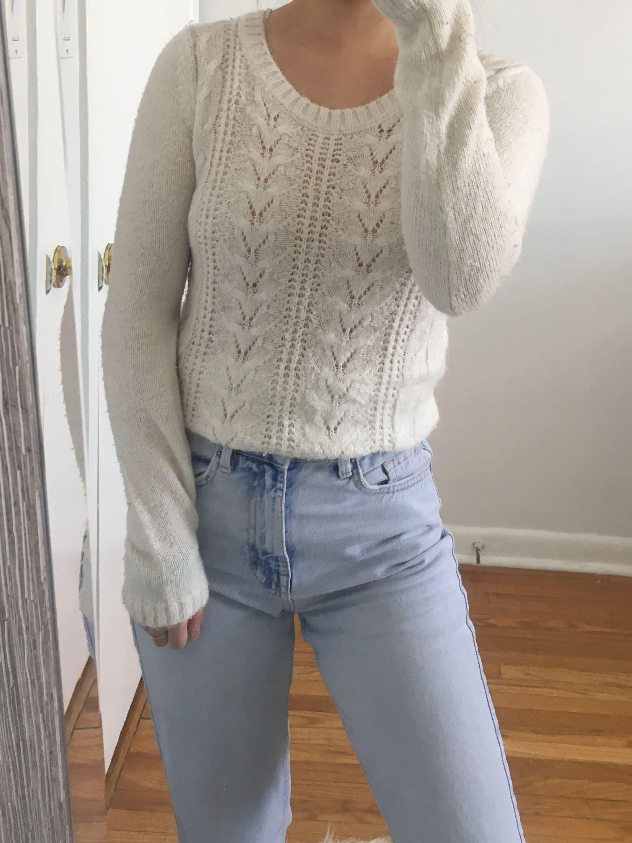 F21 Knit Sweatshirt