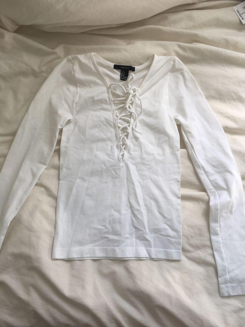 F21 White Long Sleeve