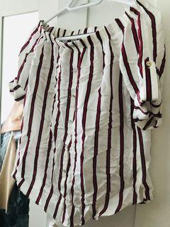 Forever New off the shoulder blouse size  0
