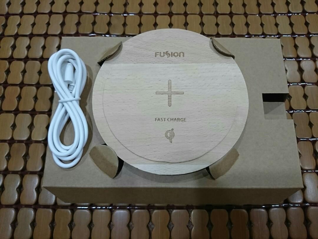 Fusion原木無線充電盤