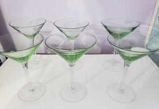 Jade Martini Cocktail Glasses