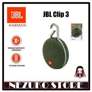 JBL CLIP 3 Portable Bluetooth Speaker Waterproof Forest Green