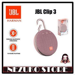 JBL CLIP 3 Portable Bluetooth Speaker Waterproof Pink