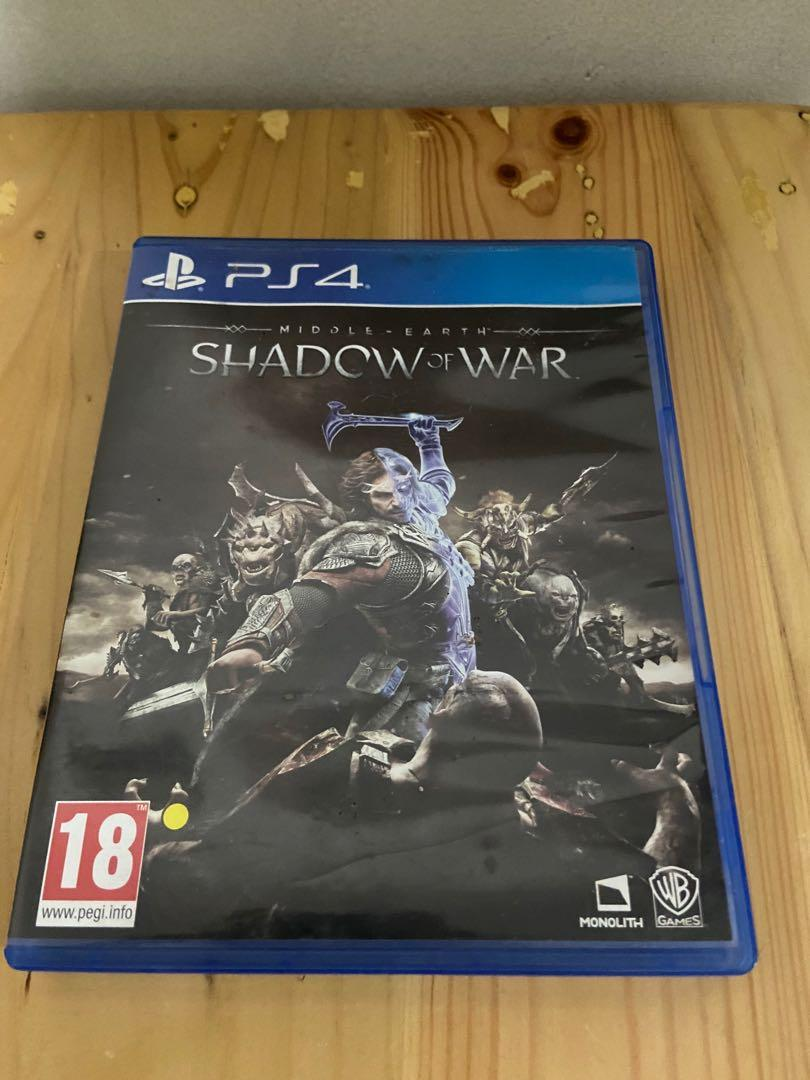 Kaset PS4 BD Shadow of War