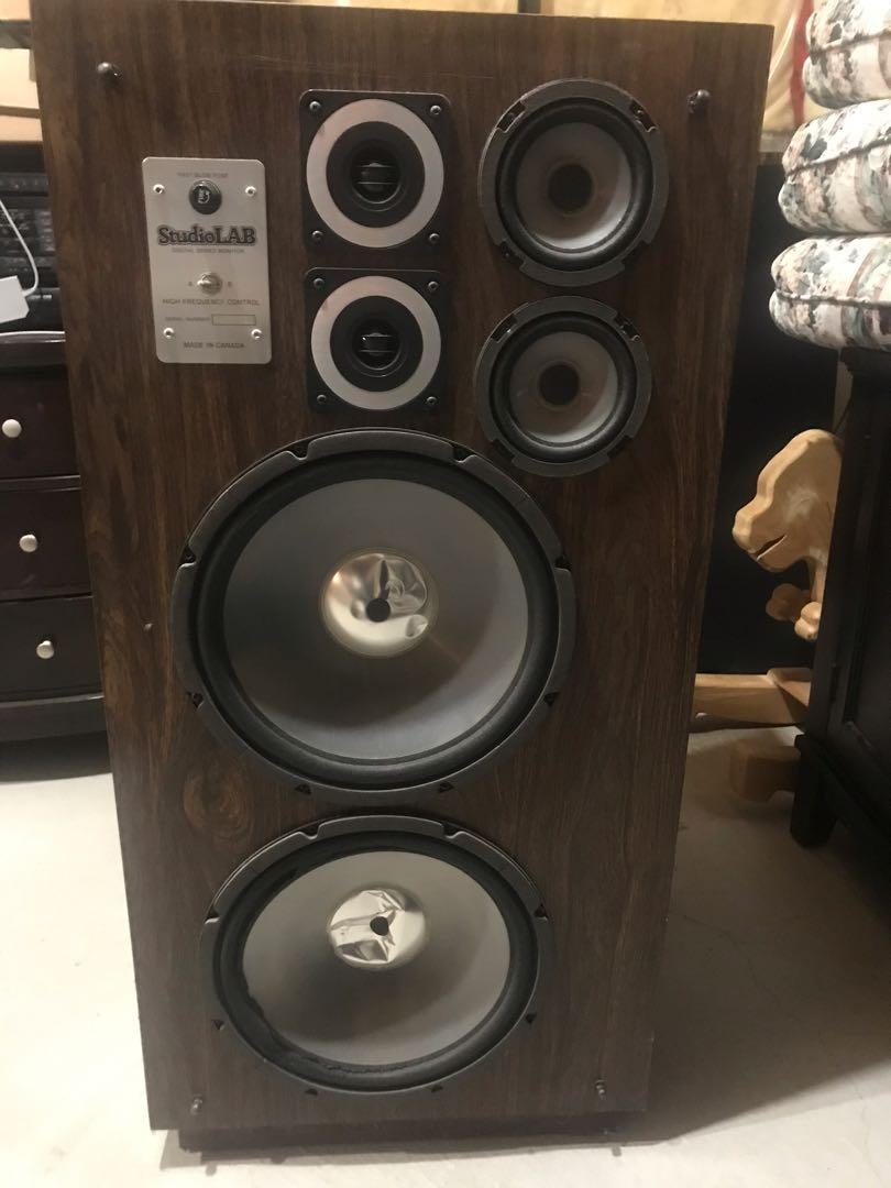 Large speakers.