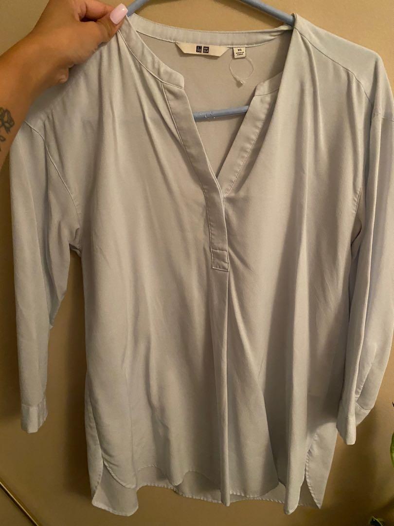 Light blue long sleeve top