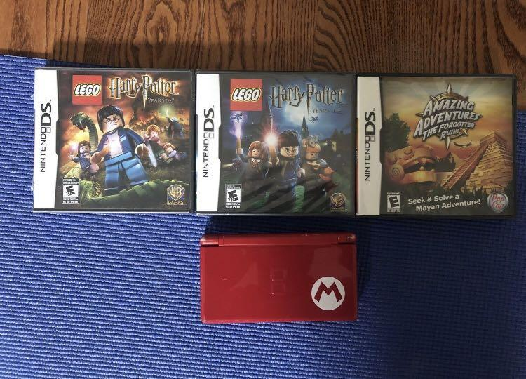 Limited Edition Mario Nintendo DS Lite System +4 Games (working)