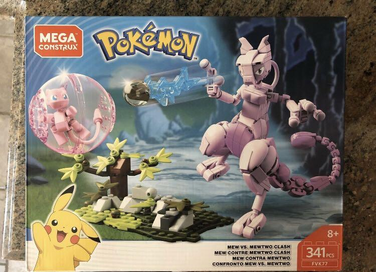 Mega Construx Bloks Pokemon MEW vs MEWTWO Clash 341 Pcs FVK77 NEW  -New/ Sealed