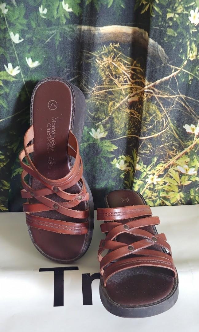 Montego Bay/Payless Leather Sandals (Size 7.5)