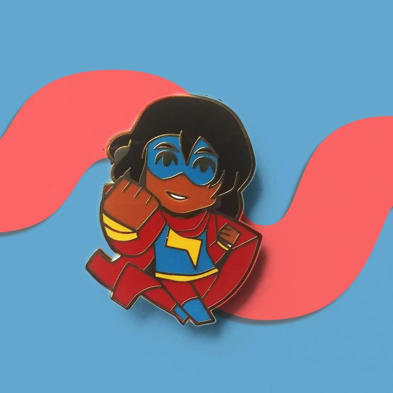 Ms Marvel enamel pin