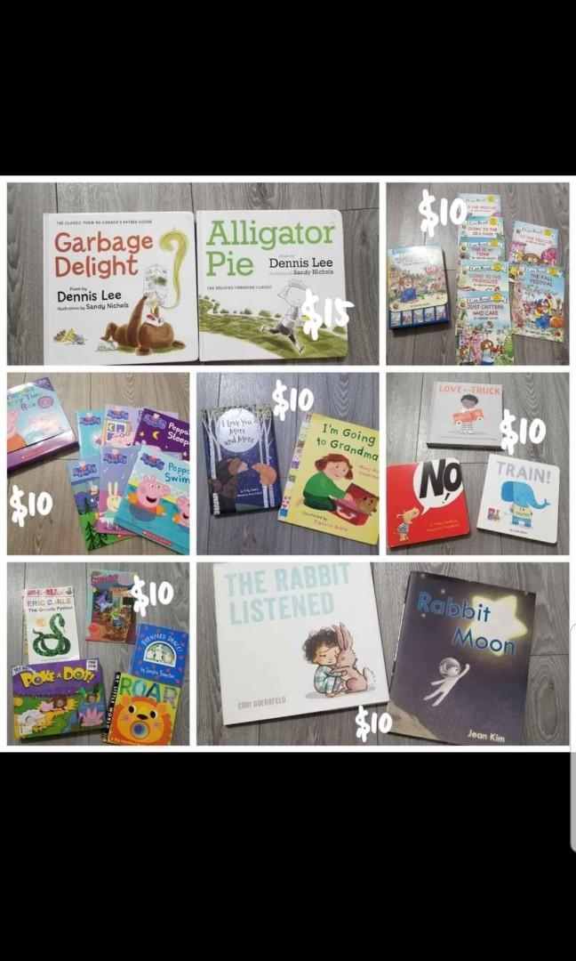 New / like new toddler books