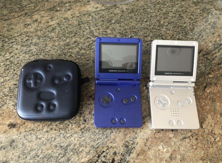 Nintendo Game Boy Advance SP Blue/Silver AGS001-Working