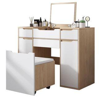 Nordic Style Dresser with Space Saving Chair Space Saver DressingTable