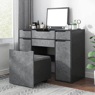 Nordic Style Dressing Table Dresser with Chair Space Saver Dresser