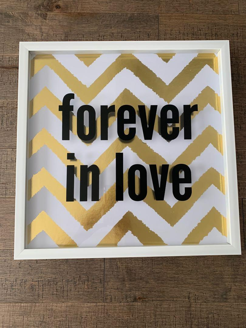 """Picture Frame Decor """"Forever in Love"""""""