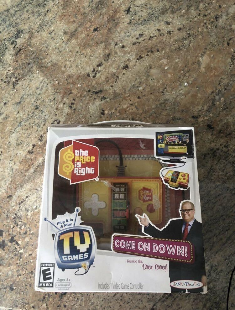 Rare 2009 Jakks Pacific The Price Is Right Plug N Play TV Game Drew Carey New
