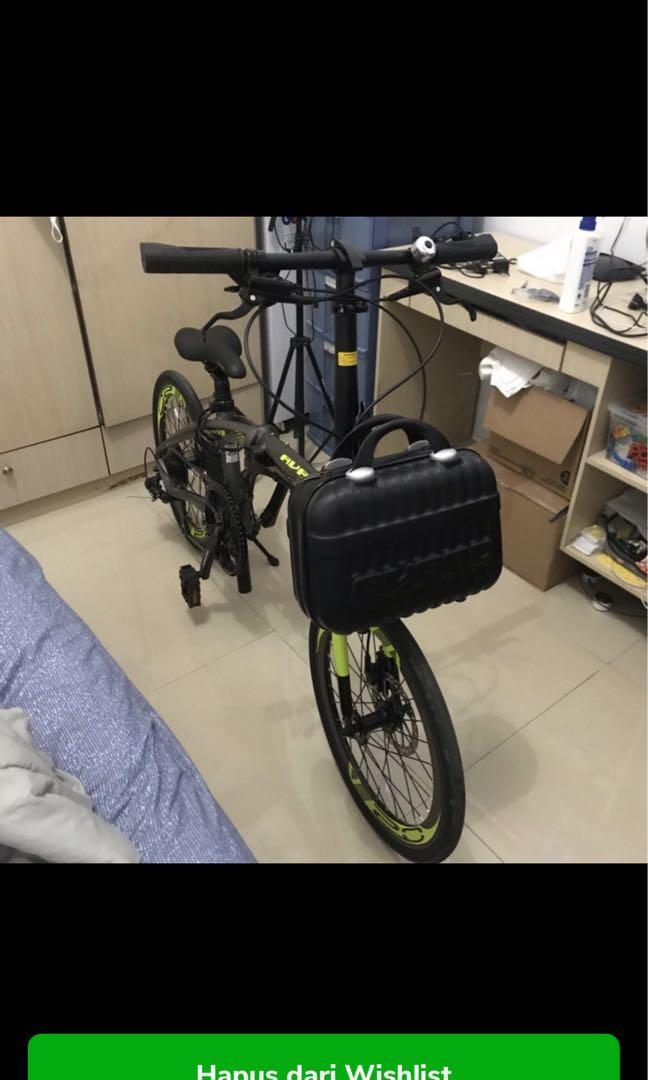 Sepeda lipat 20 united acand chester 8 speed hidrolik FREE HELM & LAMPU