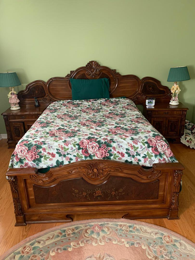 VINTAGE 5 PC QUEEN BEDROOM SET