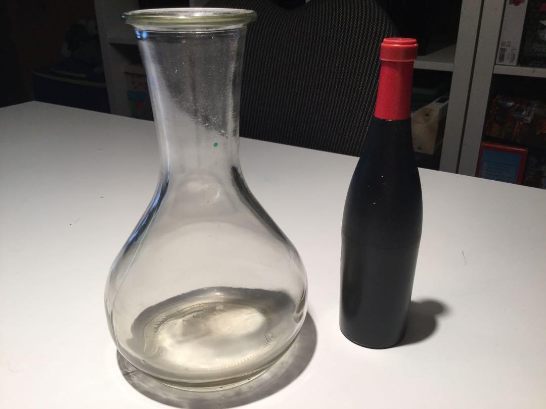 Wine decanter with bottle opener