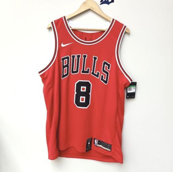 Zach Lavine Chicago Bulls Jersey Swingman NBA Basketball Nike Original Authentic Kaos Baju Basket Asli Size XL