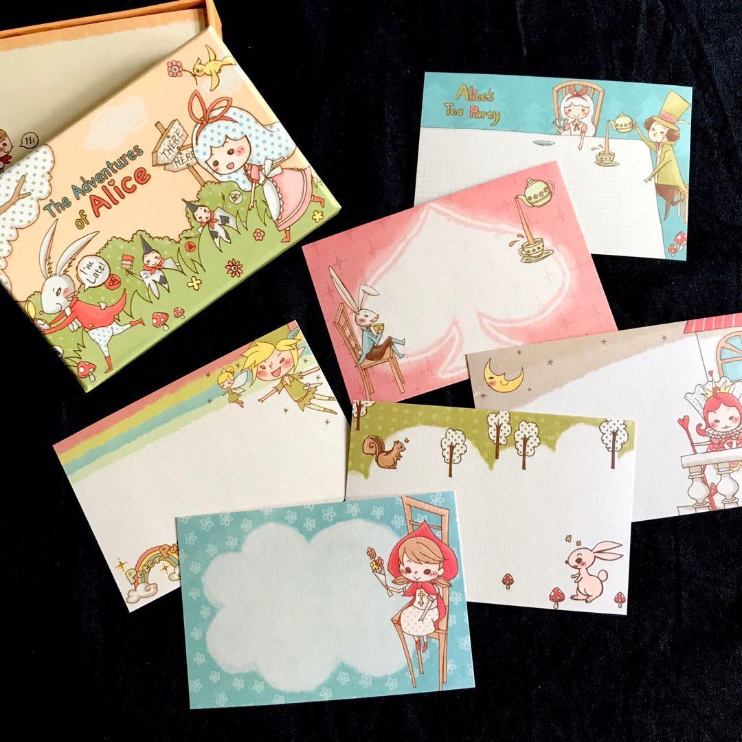 萬用小卡 愛麗絲夢遊仙境小卡片 賀卡 留言小卡