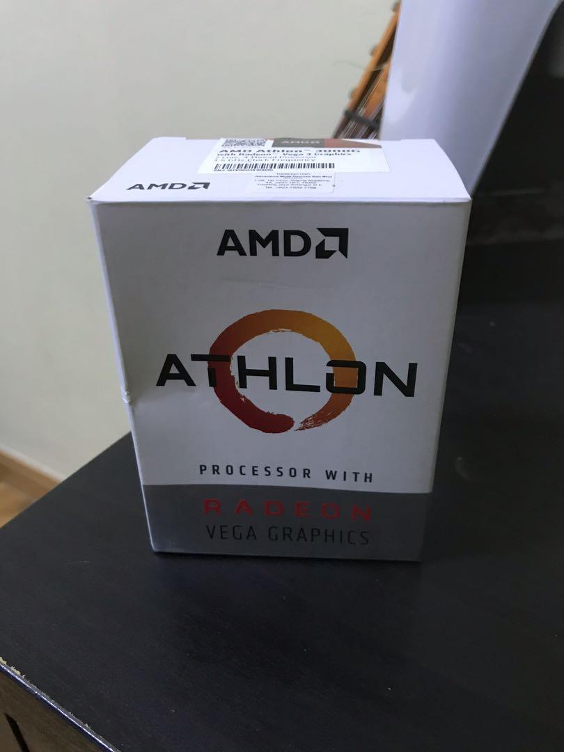 Amd Athlon 3000g 3 5ghz Include With Box And Stock Cooler Electronics Computer Parts Accessories On Carousell