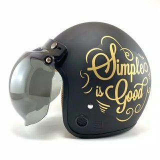 """Helm Retro Murah """"Simple is Good"""""""