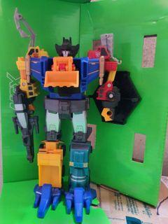 Transformer G1 Micromaster Six Builders Devastator constructicon