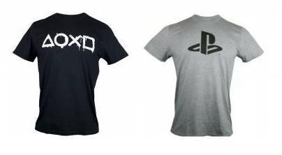Unisex PlayStation Bug Logo or Buttons 100% Cotton T-Shirt (Size L & XL)