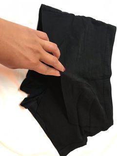 wrap shorts black