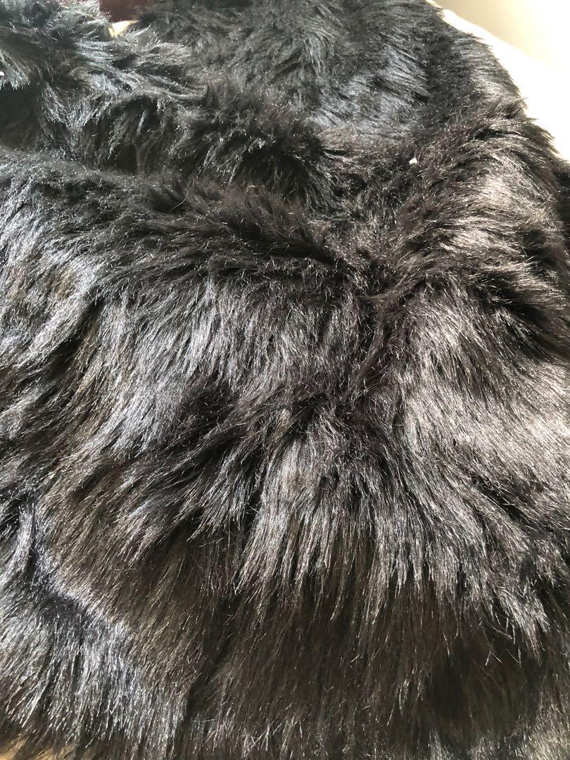 3 pieces fur rugs