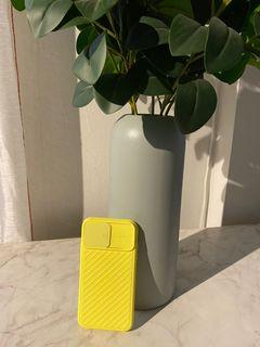 Apple Iphone 11  Soft Case Yellow Candy Color Full Cover and Lens