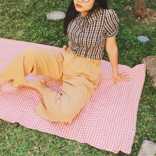 ATMOSPHERE plaid blouse