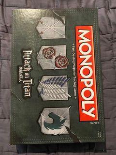 Attack on titan monopoly!!!