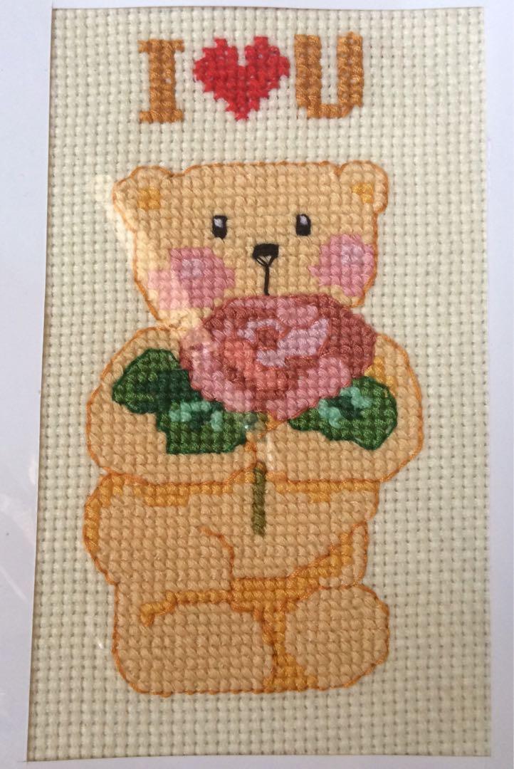 #bisnisbaru I ❤️U bear crossstich