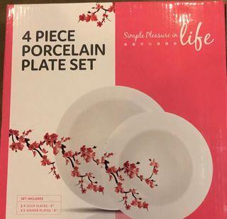 BNIB Porcelain Plate Set