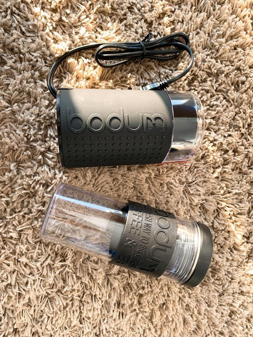 Bodum electric blade grinder + travel mug