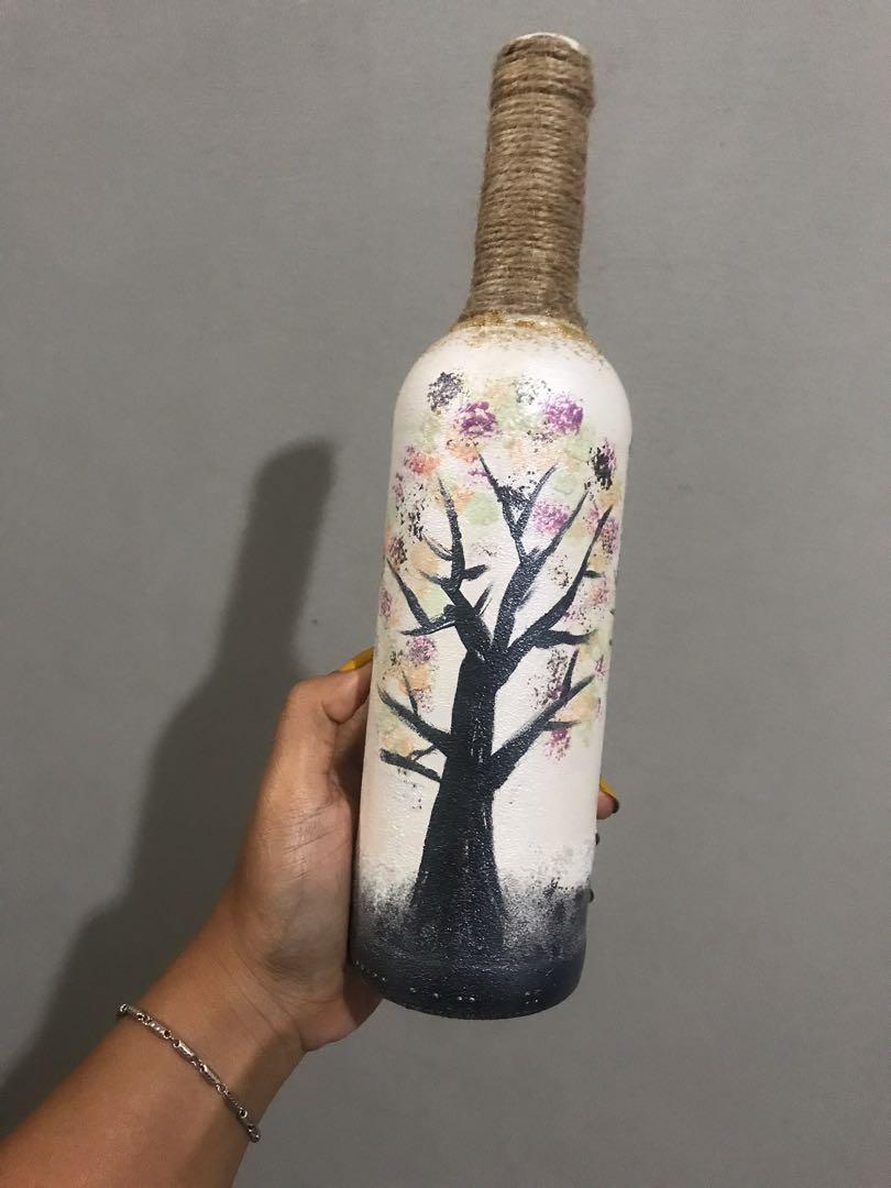 Botol/vas gambar sendiri