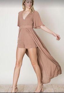 Dusty Blush Romper Dress