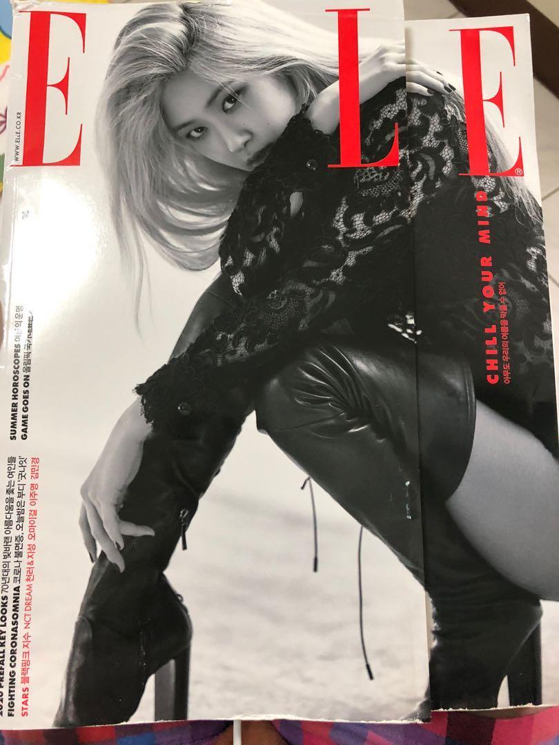 韓國雜誌ELLE8月號 封面人物BLACK PINK ROSE 朴彩英