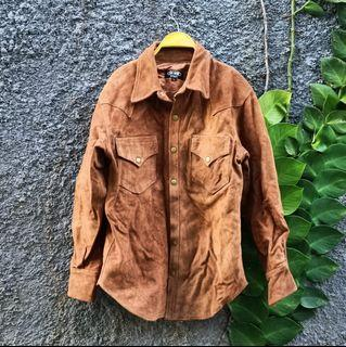 HORN WORKS LEATHER SUEDE PERFECTO MOTO JACKET