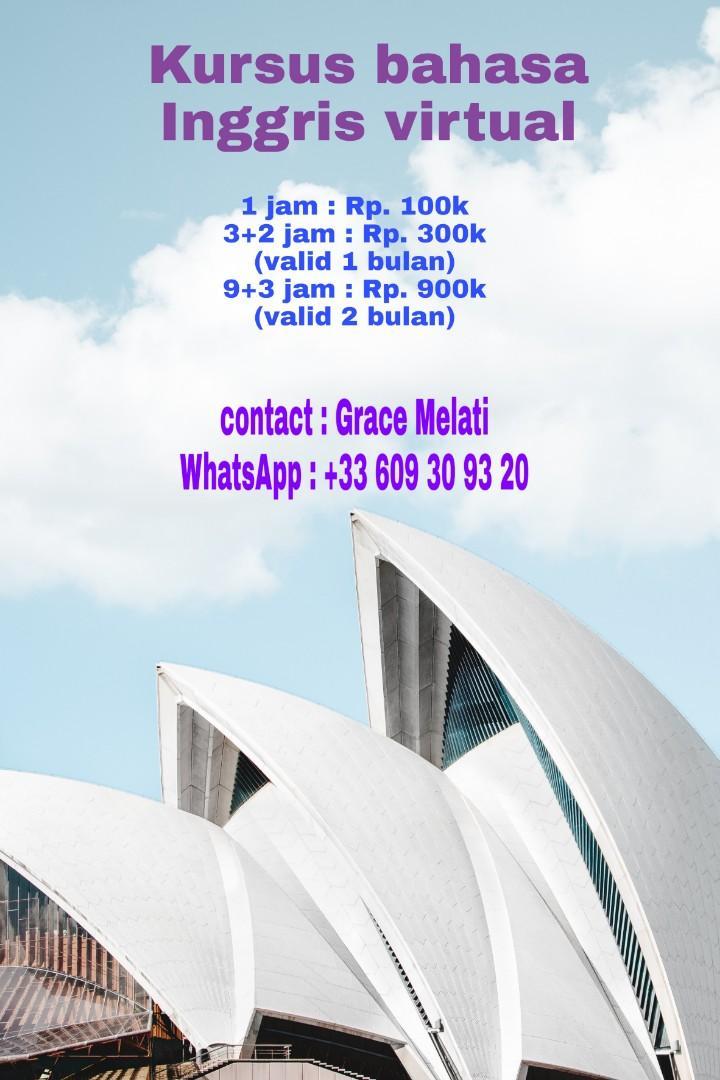 Kursus bahasa Inggris virtual