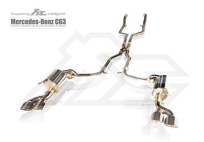 【YGAUTO】FI 賓士 BENZ W204 AMG C63 中尾段閥門排氣管 全新升級 底盤